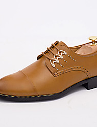 Men's Business Leather Shoes Wedding Oxfords Black / Brown / White