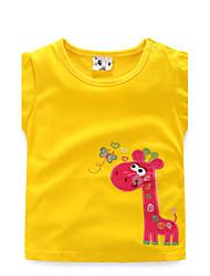 BK   Girls Summer Cartoon Cute Cotton O-Neck Short-sleeved T-shirt