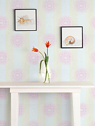 Contemporary Wallpaper Art Deco 3D Pink Flower Wallpaper Wall Covering PVC Self Adhesive/Vinyl Fabric Wall Art