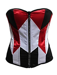 YUIYE® Women Red and White Sexy Lingerie Waist Training Corset Bustier Tops without the Cap S-2XL