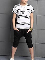 Boy's Cotton Clothing Set,Summer Polka Dot