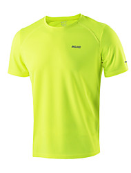 Running Tops Men's Short SleeveBreathable / Quick Dry / Antistatic / Reflective Strips / Limits Bacteria / Static-free / Lightweight