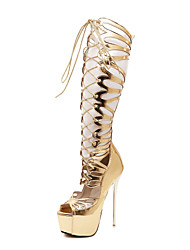 Women's Shoes Leatherette Chunky Heel Heels / Gladiator / Basic Pump / Comfort / Novelty / Ankle StrapSandals