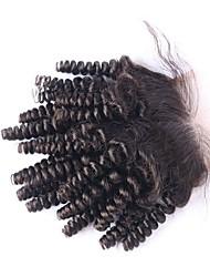 moda Funmi rendas fechamento cabelo encaracolado saltitante 4 * 4 com nós descorados
