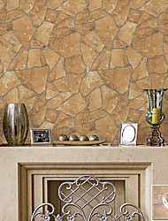 HaokHome® Vintage Marbel Stone Wallpaper Rolls Sand Bricks Vinyl Kitchen Wall Paper Murals Realistic Home Decoration