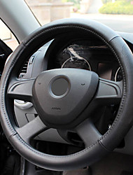 Punched Holes Steering Wheel Cover for Four Seasons Beige Gray Brown and Black