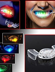 Colorful Flashing LED Flash Light Mouth Guard Piece 4 Colors Party Glowing Tooth Toy Festive Party Supplies