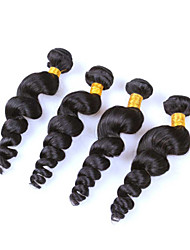 Peruvian Hair Extensions 4 Bundles 6A Grade Peruvian Virgin Hair Loose Wave Remy Human Hair
