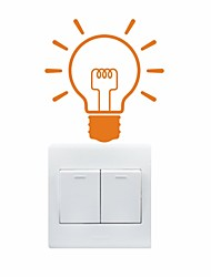 AYA™ DIY Wall Stickers Wall Decals, Bulb Pattern Light Switch Stickers