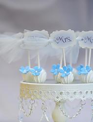 Decorações de Bolo Não-personalizado Engraçado e Relutante Papel de Cartão Casamento / Aniversário Fitas Branco / AzulTema Praia / Tema