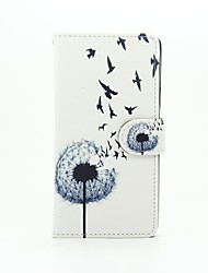 For Huawei Case / P9 Lite / P8 Lite Card Holder / Wallet Case Full Body Case Dandelion Hard PU Leather HuaweiHuawei P9 Lite / Huawei P8