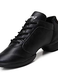 Chaussures de danse(Noir / Rouge) -Non Personnalisables-Talon Cubain-Similicuir-Baskets de Danse