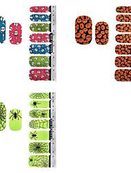 DIY Beautiful Halloween  Nail Art Stickers Decoration Series 11Styles Choosing