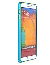 frontière métallique bord arc coquille de téléphone mobile pour samsung not3