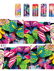 1sheets Butterfly Fish Water Transfer Stickers Nail Decoration Tools