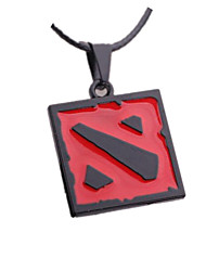 Jewelry Inspired by WOW Cosplay Anime/ Video Games Cosplay Accessories Necklace Black / Silver Alloy Male