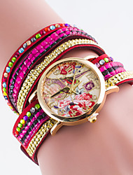 Women's European Style Colorful Fashion Tower Quartz Wrapped Bracelet Watch Cool Watches Unique Watches