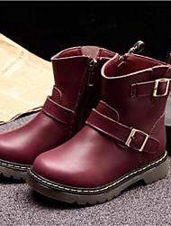 Botas(Negro / Rojo) -Comfort-Semicuero
