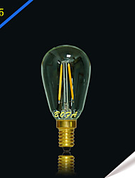 NO Lâmpada Redonda LED Regulável / Decorativa E14 / E12 2W 100-200 lm 2200K 2700K K Branco Quente 2 COB 1 pç AC 220-240 / AC 110-130 V
