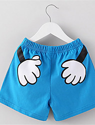 BK Girl Cute Thin Cartoon Shorts 2016 Summer Kids' Clothing