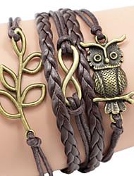 Жен. Ножной браслет Браслет Кожаные браслеты Мода Ручная работа Ткань Бижутерия Назначение