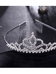 Fashion Crown Head Wreath Head Dress Rhinestone Flower Shape