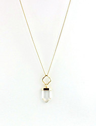 Women's Couple's Pendant Necklaces Crystal Alloy White Black Jewelry Daily Casual 1pc