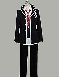 Inspired by Blue Exorcist Rin Okumura Anime Cosplay Costumes Cosplay Suits Patchwork Long Sleeve Coat Shirt Pants Tie Badge For Male