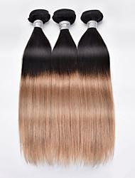 """3pcs / lot 8 """"24"""" pelo brasileño virginal, color 1b / 27 el pelo liso, venta caliente trama del pelo humano."""