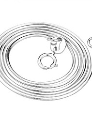 Round Snake Pattern Silver Necklace(1pc)