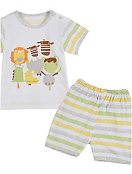 Boy's Cotton Clothing Set,Summer / Spring Striped