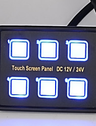 2016 New Arrival 12V Motorcycle Automobile Touch Panel Six Switches