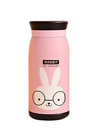 260ml animal mignon en acier inoxydable thermos vide tasse