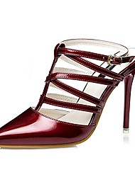 Women's Shoes AmiGirl 2016 New Style Wedding/Party/Dress Black/Silver/Pink/Gold/Red/Wine Stiletto Heels