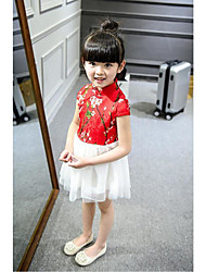 Cosplay Costumes Princess Fairytale Festival/Holiday Halloween Costumes Red & White Print DressHalloween Christmas Carnival Children's