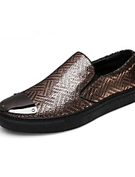 Men's Shoes Wedding / Office & Career / Party & Evening / Dress / Casual Nappa Leather Loafers Black / Silver / Gold