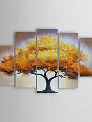 Dipinta a mano Paesaggi / Paesaggi astrattiModern Cinque Pannelli Tela Hang-Dipinto ad olio For Decorazioni per la casa