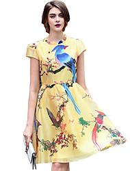 Women's Clothing Style Pattern Silhouette Dress , Neckline Dress Length Fabric