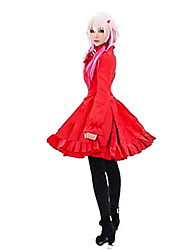Inspiré par Guilty Crown Inori Yuzuriha Anime Costumes de cosplay Robes Couleur Pleine Rouge Robe