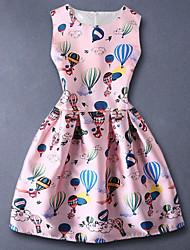 Girl's Pink Dress Rayon Summer / Spring / Fall