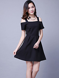 Women's Simple / Street chic Solid A Line / Little Black Dress