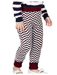 Pantaloni Girl Inverno Cotone Rosso