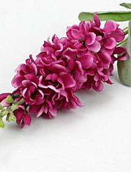 branche soie / delphiniums plastique table fleur fleurs artificielles (5 pièces)