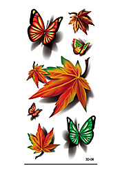 8pcs Flowers Butterflies Animals Halloween Body Art Temporary Tattoos Flash Sticker Waterproof Fashion