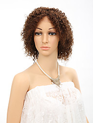 "10"" Short Curly Lacefront Wigs Brazilian Virgin Guleless Curly Human Hair Wigs with Baby Hair For Black Women"