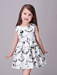 Girl's White Dress Rayon Summer