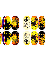 bande dessinée de halloween fluorescence kitty ongles bijoux