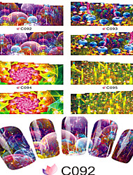 1pcs  Nail Art Water Transfer Stickers Comfortable Life Picture Fashion Magical Image  C92-99