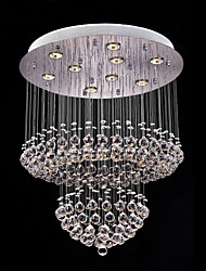 Clear Crystal Lighting Pendant Modern Lamp 9 Lights