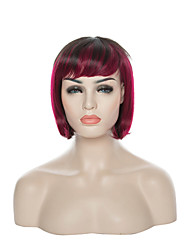 New Arrival Mix Color Short Straight Bob Hair Wigs for Daily Natural Sexy Capless Synthetic Wig Party Wigs Cosplay wig